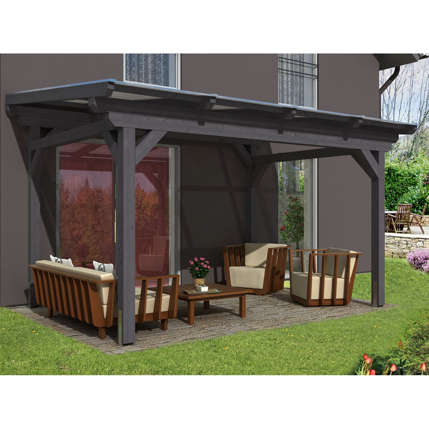 pergola bausatz freistehend simple von discount freistehend bausatz with pergola bausatz. Black Bedroom Furniture Sets. Home Design Ideas