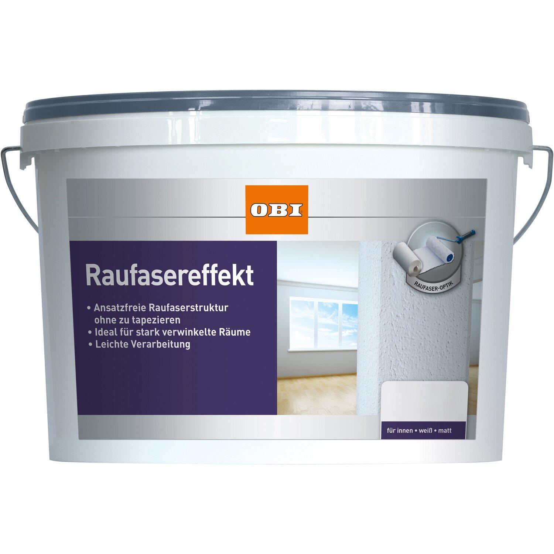 Gut bekannt OBI Raufaser-Effekt Weiß matt 5 l kaufen bei OBI YT96