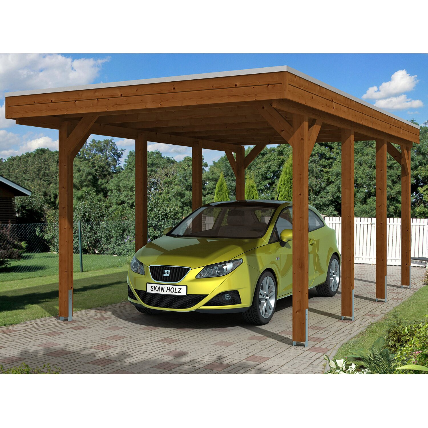 skan holz carport friesland 314 cm x 555 cm nussbaum moebel suchmaschine. Black Bedroom Furniture Sets. Home Design Ideas