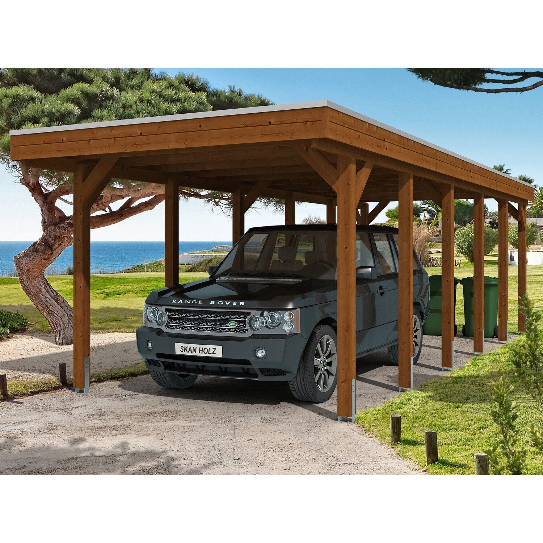 Skan Holz Carport Friesland 314 cm x 860 cm Nussbaum | Baumarkt > Garagen und Carports > Carports | Skan Holz