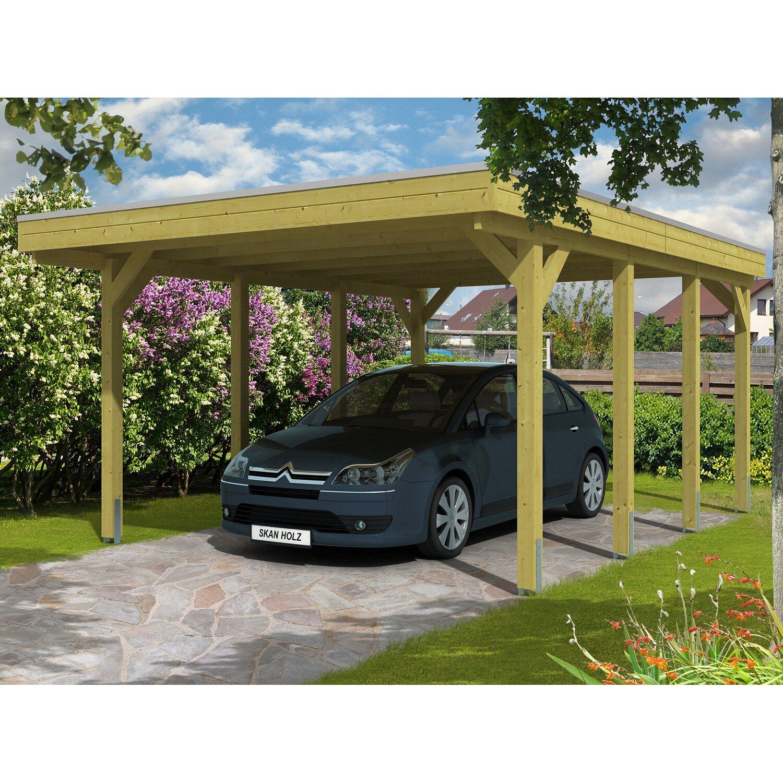 Skan Holz Carport Friesland 397 cm x 555 cm | Baumarkt > Garagen und Carports > Carports | Grün | Holz | Skan Holz