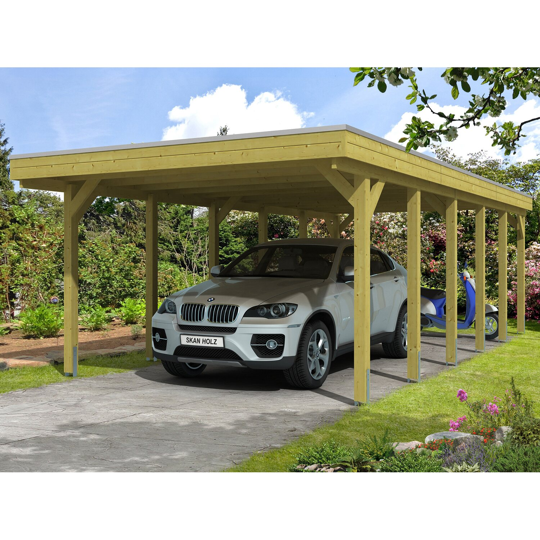 Skan Holz Carport Friesland 397 cm x 860 cm | Baumarkt > Garagen und Carports > Carports | Grün | Holz | Skan Holz
