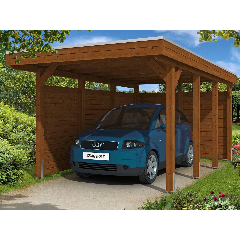 skan holz carport friesland set 1 314 cm x 555 cm nussbaum kaufen bei obi. Black Bedroom Furniture Sets. Home Design Ideas
