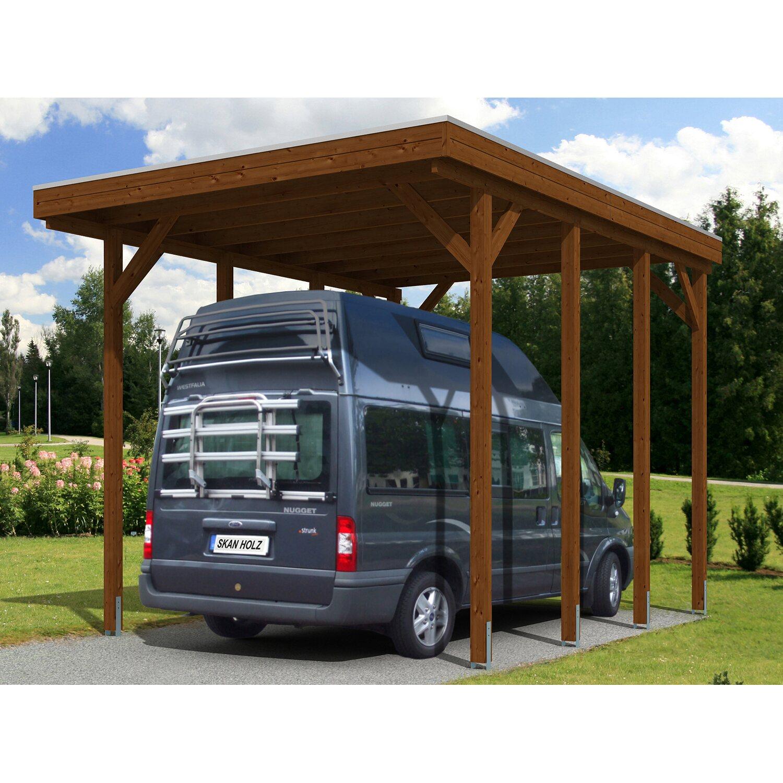 skan holz carport friesland caravan 397 cm x 555 cm nussbaum kaufen bei obi. Black Bedroom Furniture Sets. Home Design Ideas