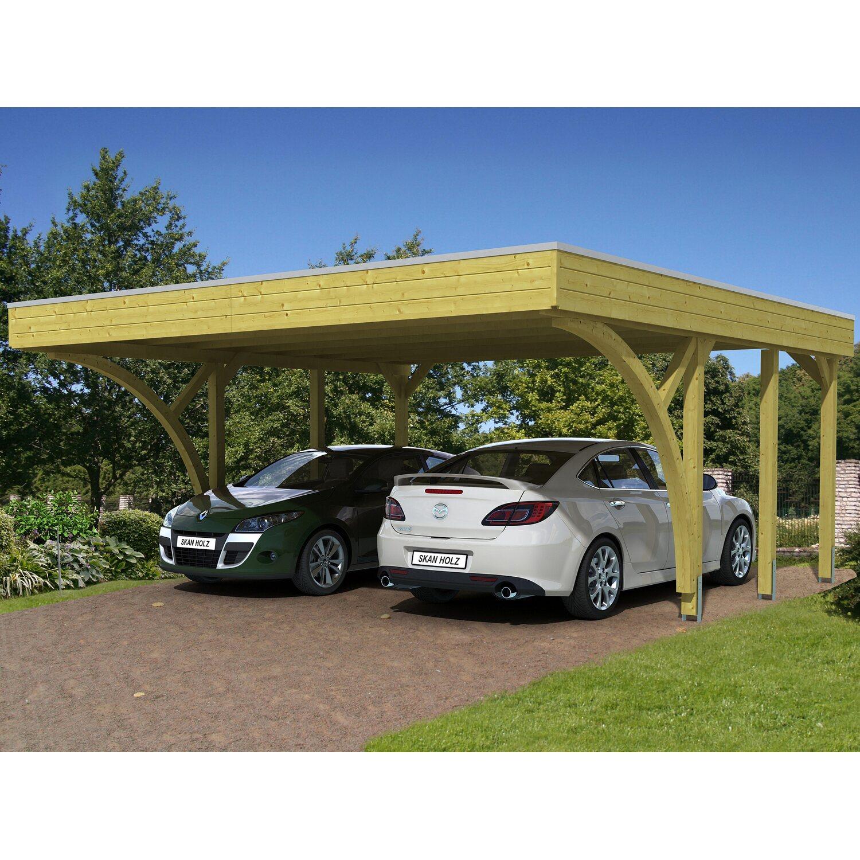 Skan Holz Carport Friesland Set 8 557 cm x 555 cm kaufen bei OBI
