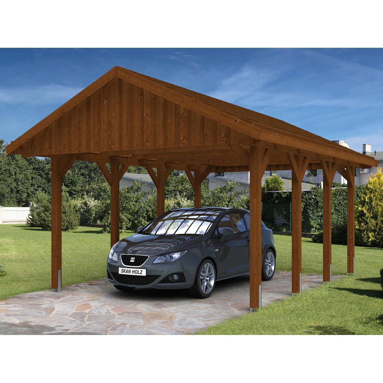 skan holz satteldach carport sauerland 430 cm x 600 cm nussbaum kaufen bei obi. Black Bedroom Furniture Sets. Home Design Ideas