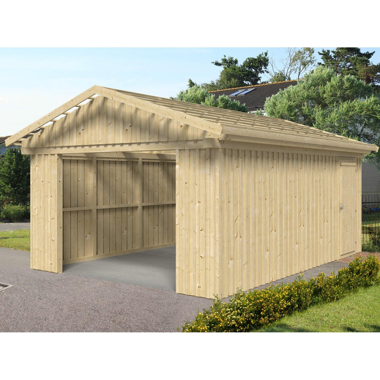Skan Holz Holzgarage Falun 393 cm x 549 cm mit ...