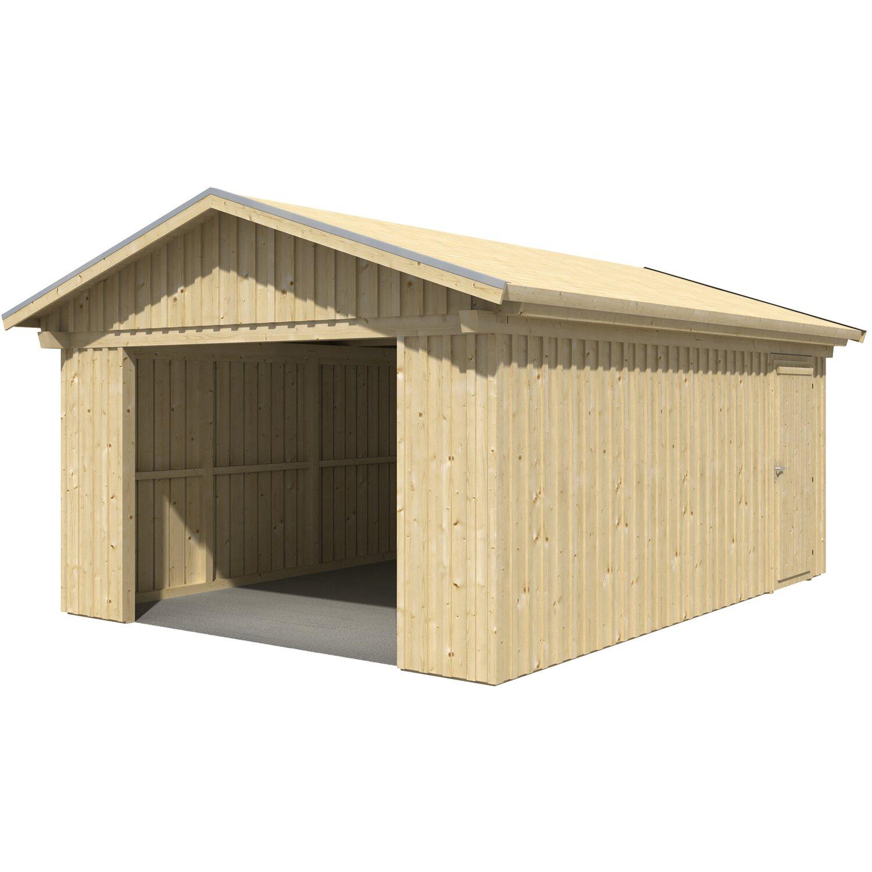 skan holz holzgarage falun 393 cm x 549 cm mit schalung. Black Bedroom Furniture Sets. Home Design Ideas