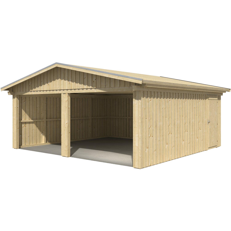 skan holz holzgarage falun 579 cm x 549 cm mit schalung. Black Bedroom Furniture Sets. Home Design Ideas