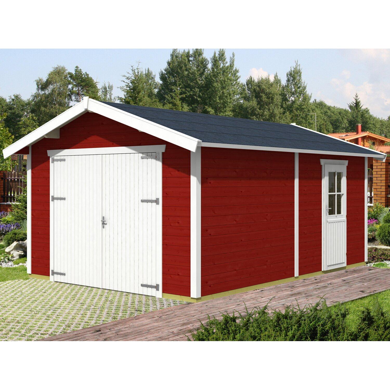 skan holz holzgarage visby 1 370 cm x 525 cm schwedenrot kaufen bei obi. Black Bedroom Furniture Sets. Home Design Ideas