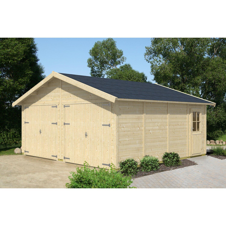 Skan Holz Holzgarage Visby 3 570 cm x 525 cm Natur | Baumarkt > Garagen und Carports > Garagen | Natur | Holz | Skan Holz