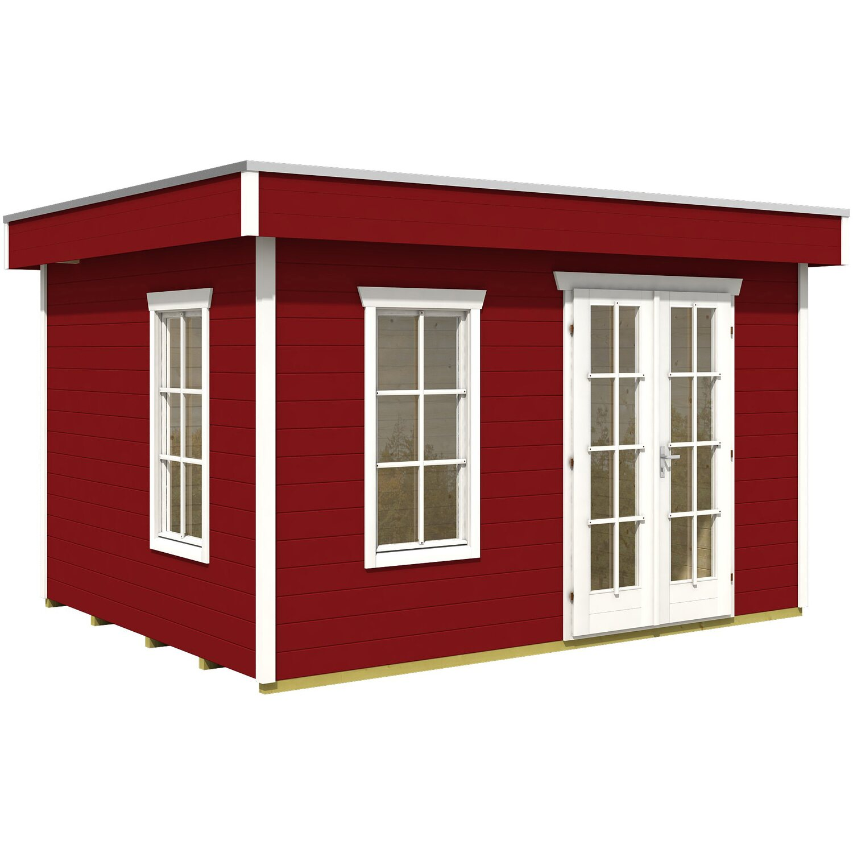 holz gartenhaus breda schwedenrot b x t 380 cm x 300 cm. Black Bedroom Furniture Sets. Home Design Ideas