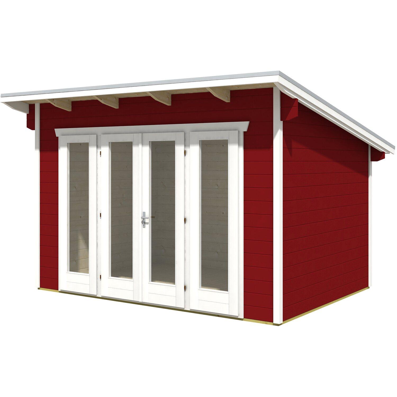 holz gartenhaus ostende 1 390 x 310 cm schwedenrot kaufen. Black Bedroom Furniture Sets. Home Design Ideas