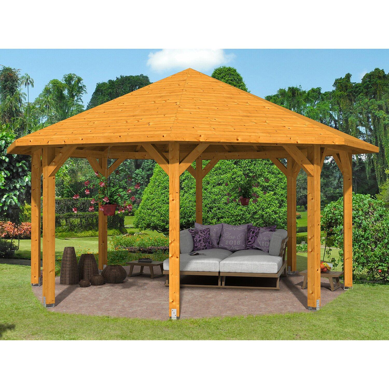 pavillon nice 3 leimholz 557 cm x 557 cm eiche hell kaufen bei obi. Black Bedroom Furniture Sets. Home Design Ideas