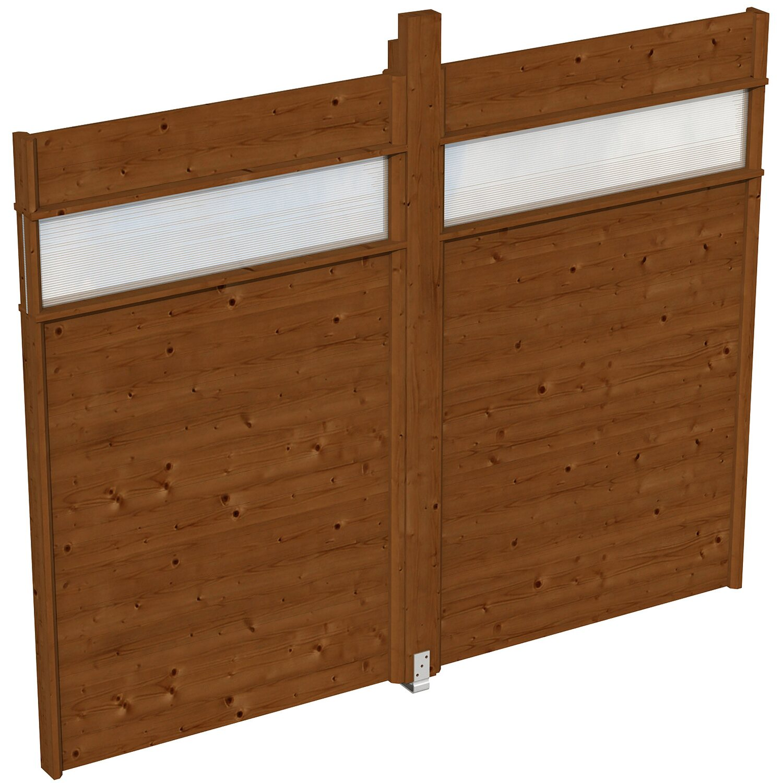 skan holz wand f r pavillon toulouse 270 x 209 cm mit lichtband nussbaum moebel suchmaschine. Black Bedroom Furniture Sets. Home Design Ideas