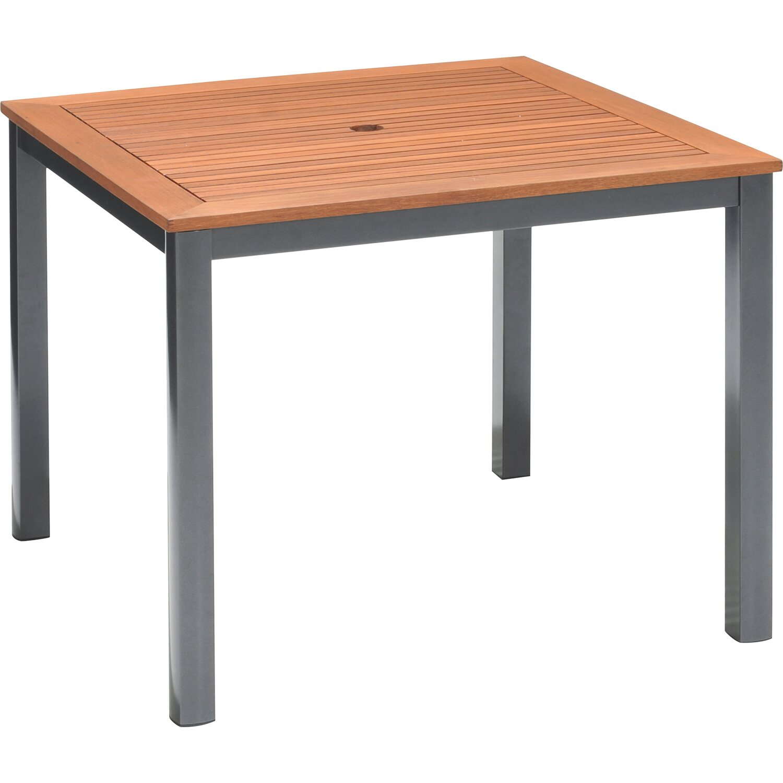 Obi Holz Gartentisch Harris 90 Cm X 90 Cm Anthrazit Kaufen Bei Obi