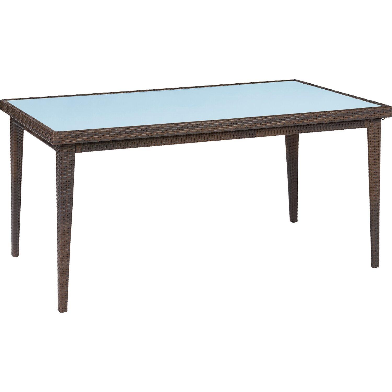 obi gartentisch davenport mit glasplatte graphit 75 cm x. Black Bedroom Furniture Sets. Home Design Ideas