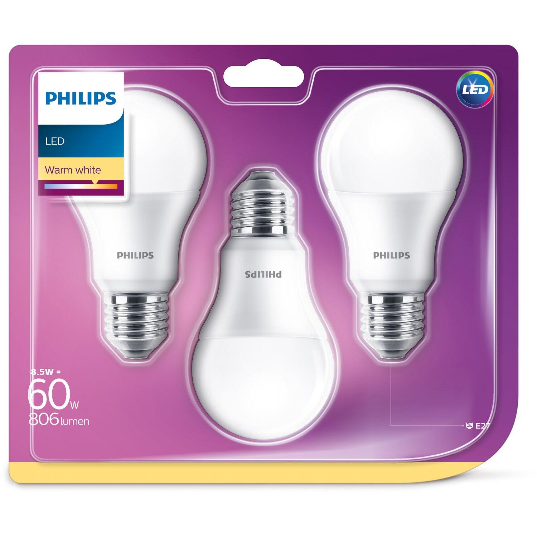 philips led leuchtmittel gl hlampenform e27 8 5 w 806 lm. Black Bedroom Furniture Sets. Home Design Ideas
