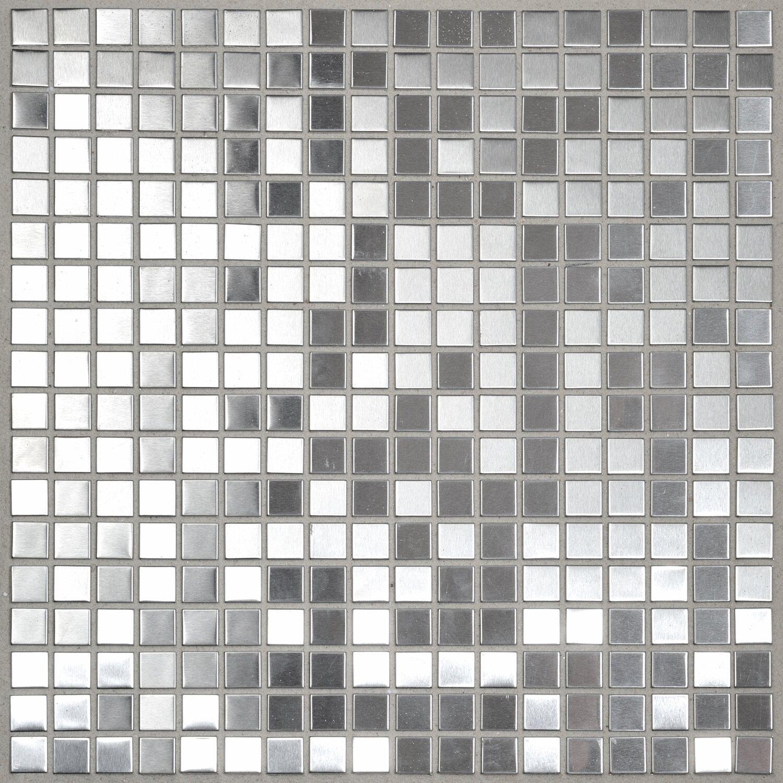 mosaik metall edelstahl 30 cm x 30 cm kaufen bei obi. Black Bedroom Furniture Sets. Home Design Ideas