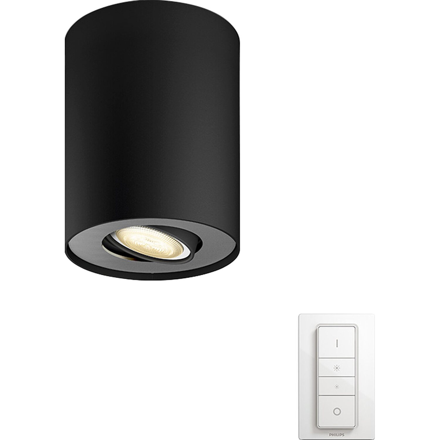 philips hue led spot 1er pillar schwarz eek a kaufen bei obi. Black Bedroom Furniture Sets. Home Design Ideas