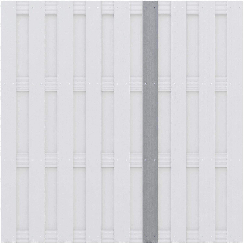 Sichtschutzzaun Jumbo Wpc Senkrechtlamelle Grau Kaufen Bei Obi