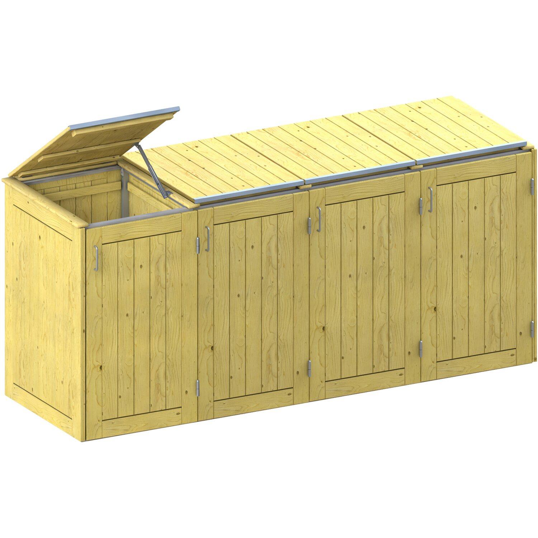 mülltonnenbox system binto nadelholz 4er box mit deckel kaufen bei obi