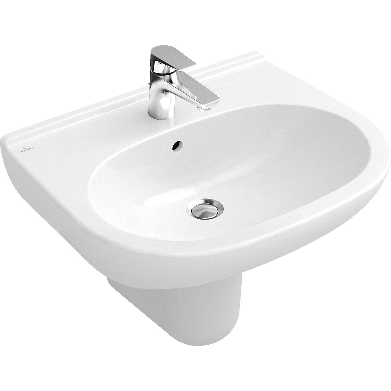 Villeroy & Boch Waschbecken O.Novo 55 cm Alpinweiß CeramicPlus