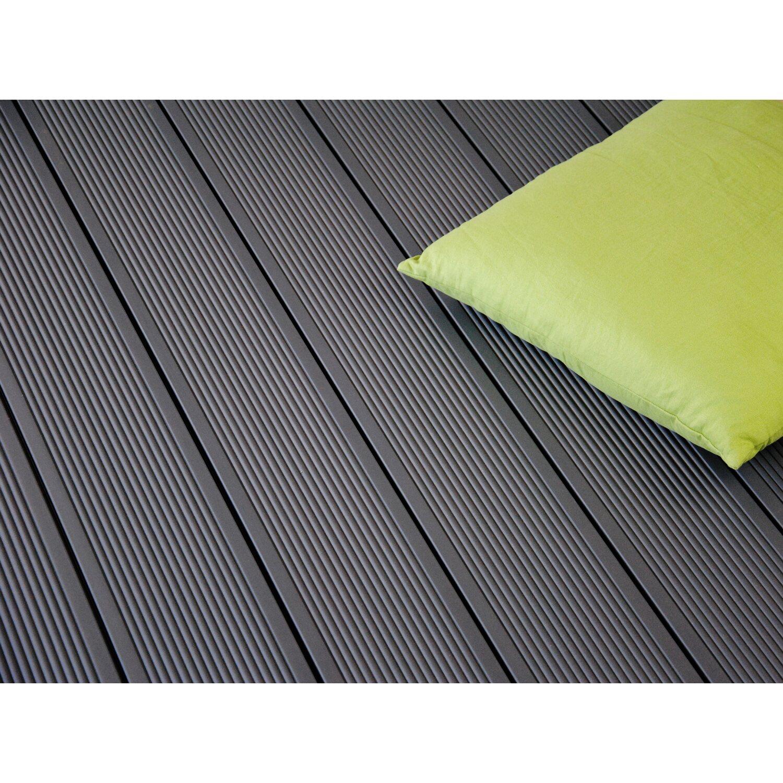 kovalex wpc terrassendiele matt steingrau 2 6 cm x 14 5 cm x 300 cm kaufen bei obi. Black Bedroom Furniture Sets. Home Design Ideas