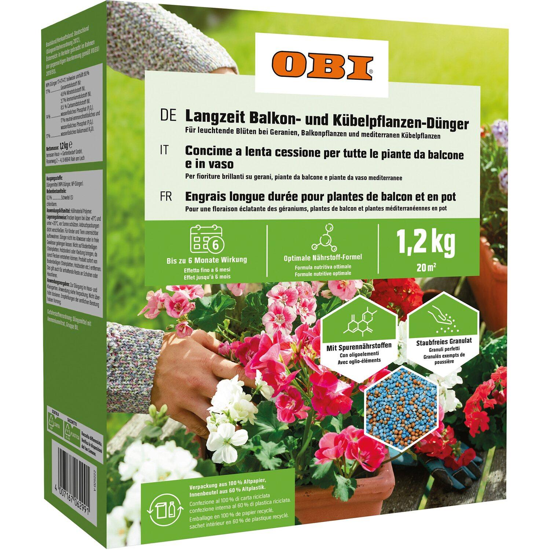 OBI Langzeit Balkon- und Kübelpflanzen-Dünger 1,2 kg | Garten > Pflanzen > Dünger | OBI Living Garden