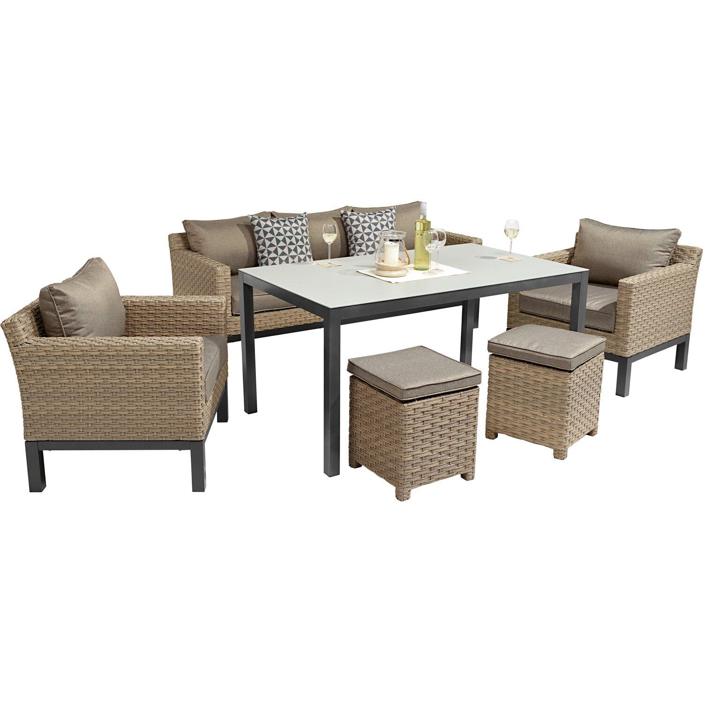 OBI Lounge-Gruppe Brogan 6-tlg. Ash kaufen bei OBI