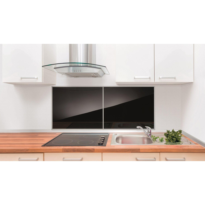 Glas Küchenrückwand 60 Cm X 50 Cm Schwarz Kaufen Bei Obi