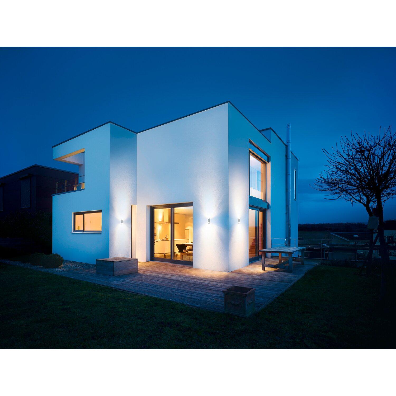steinel led au enwandleuchte mit bewegungsmelder l 910 silber eek a a kaufen bei obi. Black Bedroom Furniture Sets. Home Design Ideas