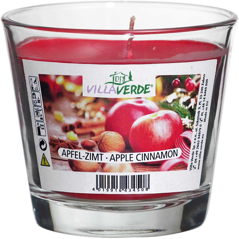 Duftkerze im Glas Rot Apfel-Zimt kaufen bei OBI