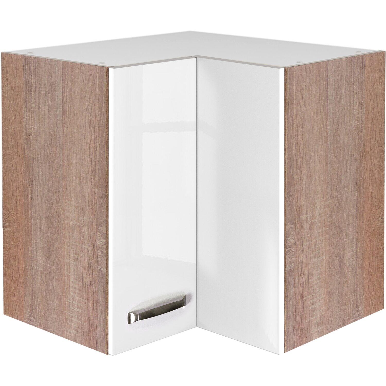 flex well exclusiv eck h ngeschrank valero 60 cm x 60 cm hochglanz wei kaufen bei obi. Black Bedroom Furniture Sets. Home Design Ideas