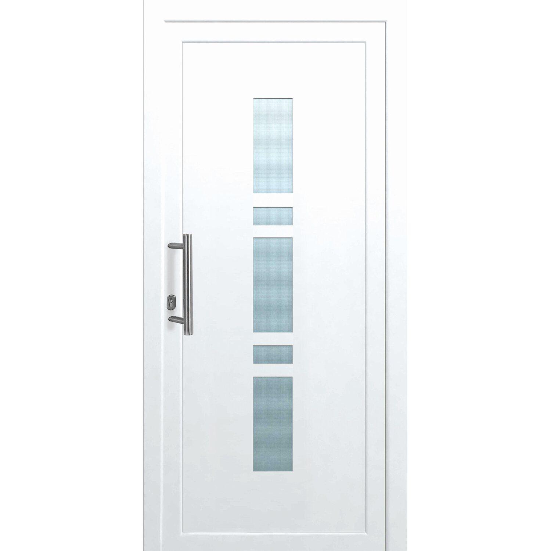 Haustüren weiß  Kunststoff-Haustür 110 cm x 210 cm K017 Anschlag Links Weiß kaufen ...