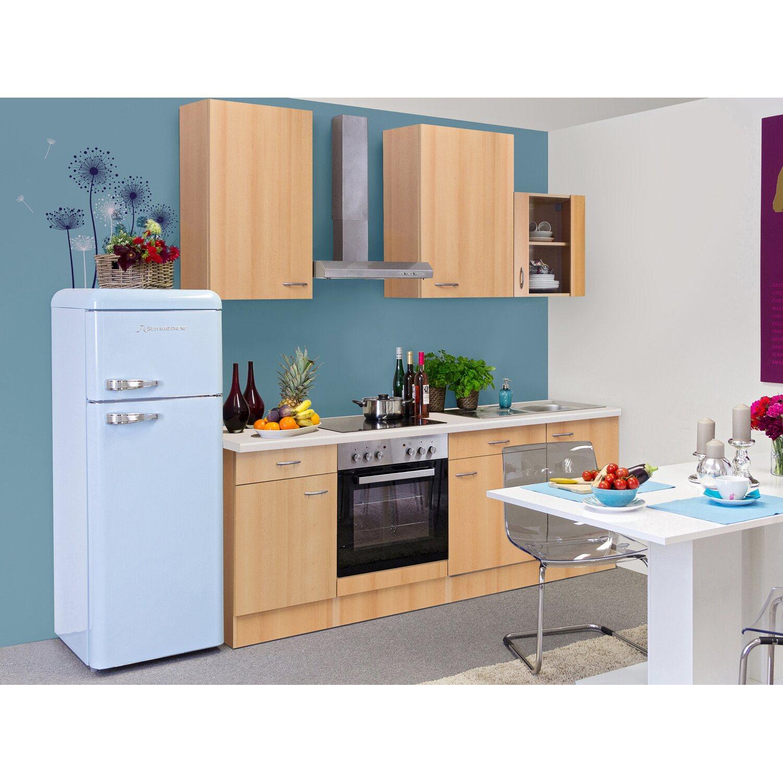 Künstlerisch Küche 220 Cm Galerie Von Flex-well Classic Küchenzeile Nano Buche Nachbildung