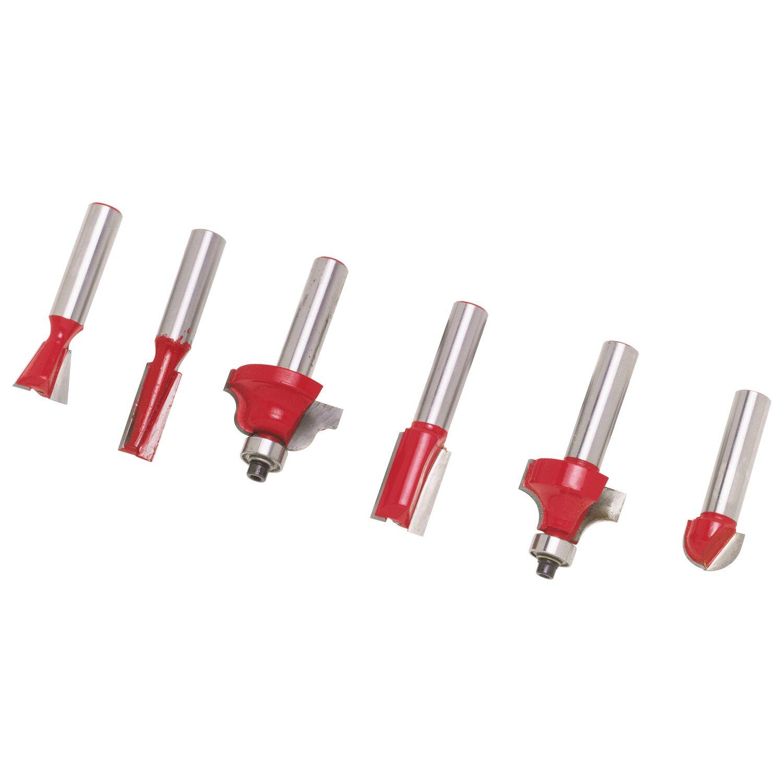 LUX-Tools HM-Oberfräser-Set 6-teilig 8 mm Schaft