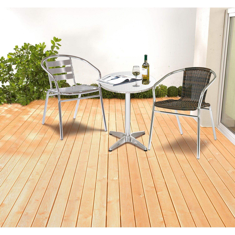 bistro stuhl aus aluminium mit kunststoff geflecht braun kaufen bei obi. Black Bedroom Furniture Sets. Home Design Ideas