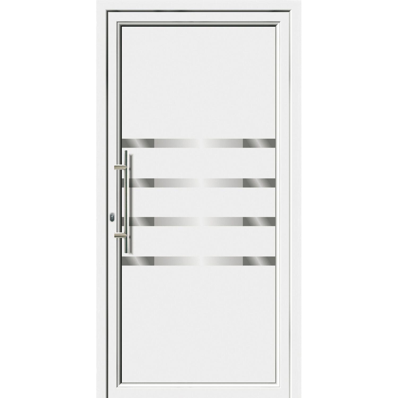 Sonstige Aluminium-Haustür 110 cm x 210 EF 55310 cm Weiß Anschlag Links