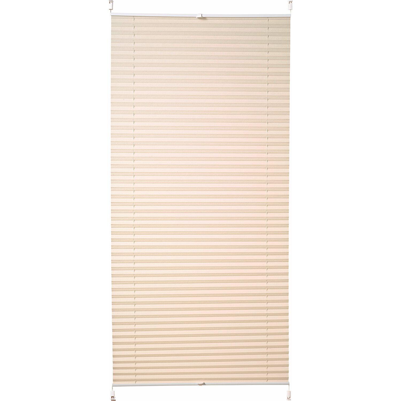 obi verspanntes plissee milena 105 cm x 130 cm beige. Black Bedroom Furniture Sets. Home Design Ideas