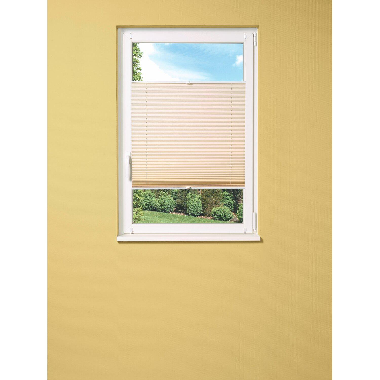 obi verspanntes plissee milena 105 cm x 130 cm beige kaufen bei obi. Black Bedroom Furniture Sets. Home Design Ideas