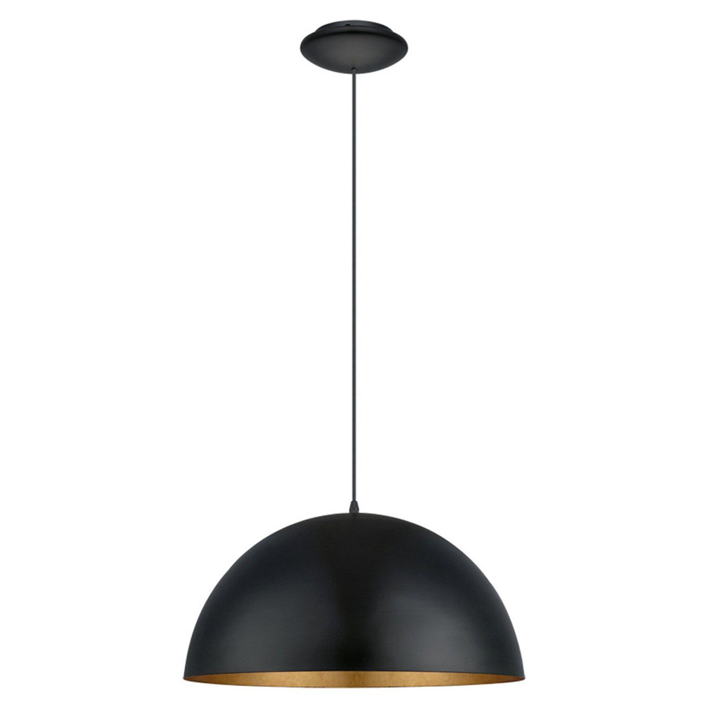 eglo pendelleuchte gaetano 1 schwarz gold 38 cm eek e. Black Bedroom Furniture Sets. Home Design Ideas