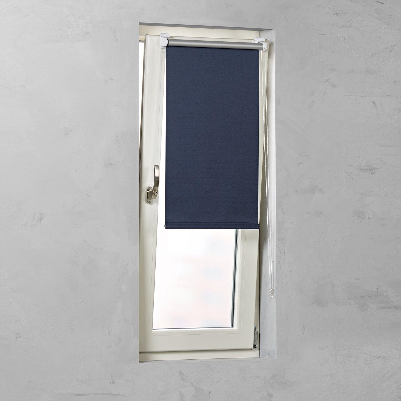 cocoon easy fix rollo verdunklung dunkelblau 120 cm x 150 cm kaufen bei obi. Black Bedroom Furniture Sets. Home Design Ideas