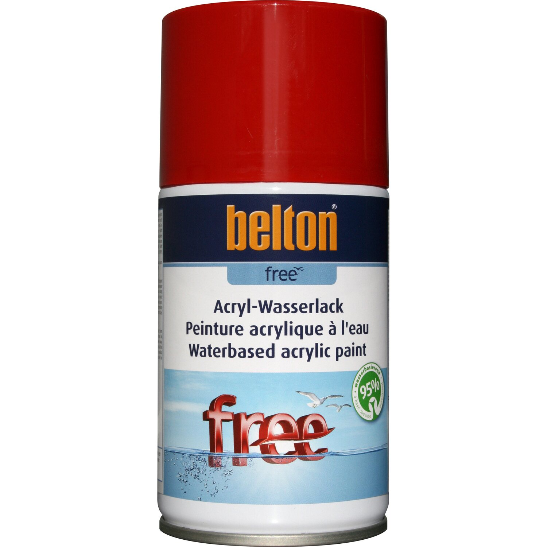 belton Belton Free Acryl-Wasserlack Feuerrot hochglänzend, 250 ml