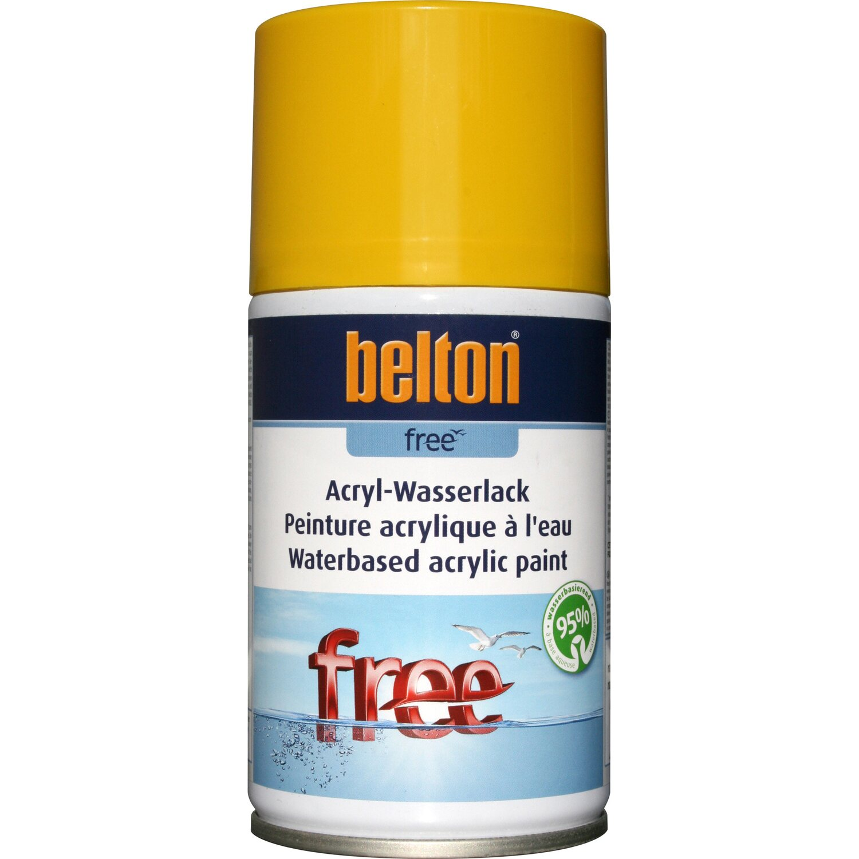belton Belton Free Acryl-Wasserlack Rapsgelb hochglänzend 250 ml