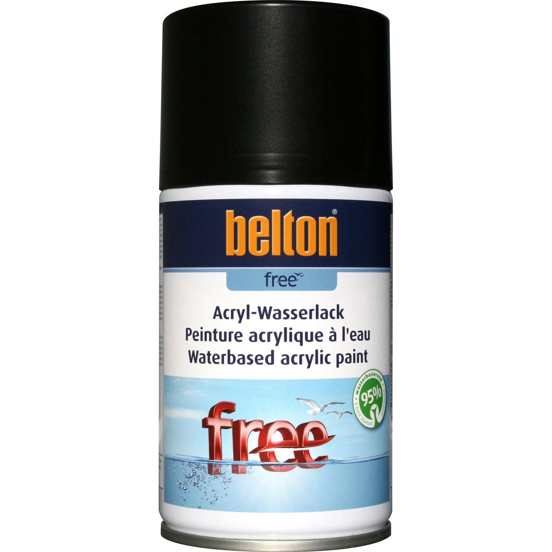 belton Belton Free Acryl-Wasserlack Tiefschwarz seidenglänzend 250 ml