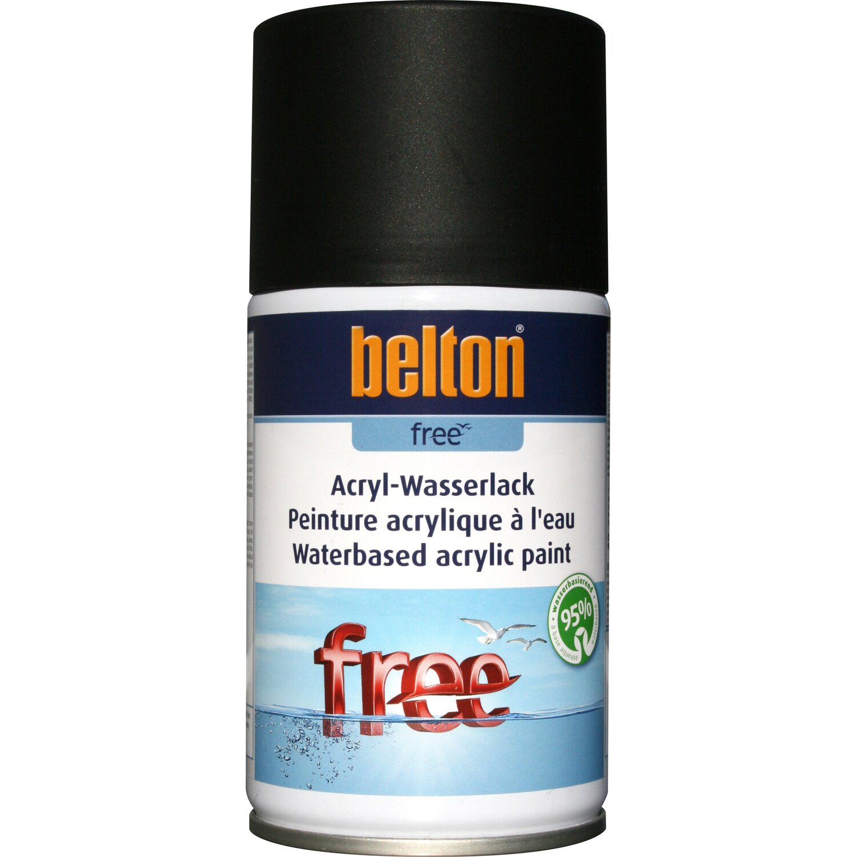 belton Belton Free Acryl-Wasserlack Tiefschwarz matt 250 ml