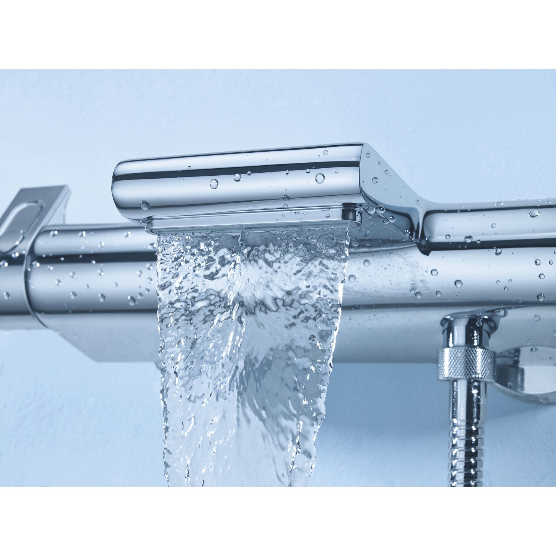 Hervorragend Grohe Thermostat-Wannenarmatur Grohtherm 2000 mit XL-Wasserfall LN13