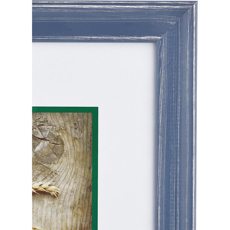 obi holz bilderrahmen blau 24 cm x 30 cm kaufen bei obi. Black Bedroom Furniture Sets. Home Design Ideas