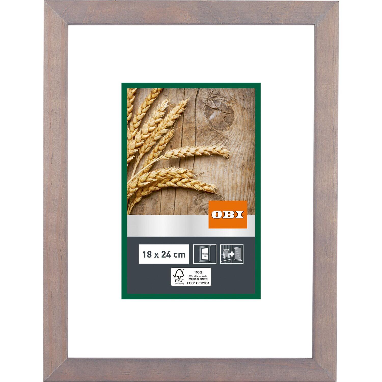 OBI Holz-Bilderrahmen Grau 18 cm x 24 cm kaufen bei OBI